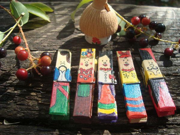 НОВИНКА!!!Необычный подарочный набор прищепок с рисунком в этно-стиле