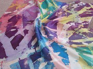 Горячий многослойный батик профессиональными красителями! | Ярмарка Мастеров - ручная работа, handmade