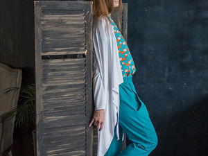 YOKU LOOK: хлопковая блуза-оверсайз, джоггеры и кардиган из трикотажа. Ярмарка Мастеров - ручная работа, handmade.