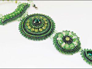 Тема закрыта.   Аукцион на три  колье!Зелень лета! | Ярмарка Мастеров - ручная работа, handmade