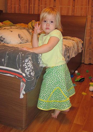 ситцевая юбка, детская юбка