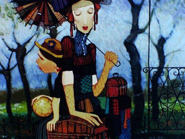 Доброта и тепло в работах грузинского художника Отара Имерлишвили   Ярмарка Мастеров - ручная работа, handmade