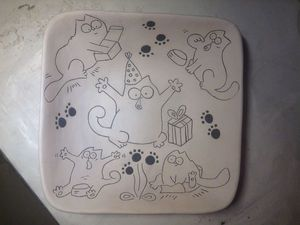 Тарелка с рисунком. Керамика | Ярмарка Мастеров - ручная работа, handmade