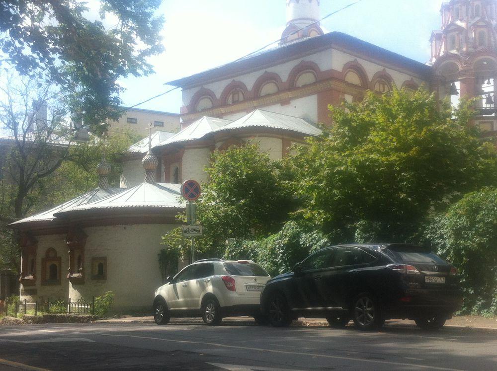 этюд, картина с церковью