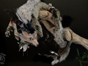Каркасный Хохлатый Горбоносый Собакодракон