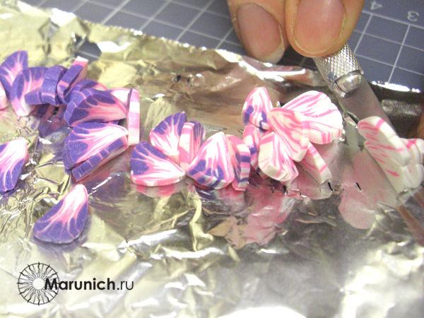 мастеркласс цветы из пластика, мастер класс по цветам, полимерная глина урок, марунич