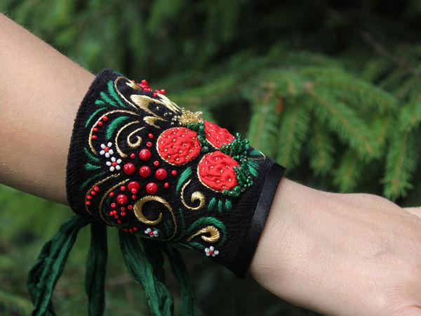 Создаем текстильный браслет с вышивкой. Ярмарка Мастеров - ручная работа, handmade.
