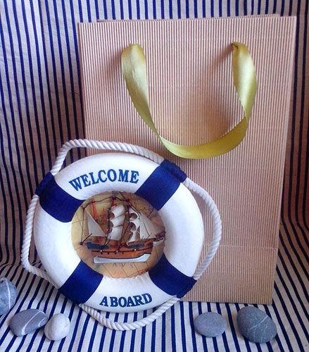 морская тема, спасательный круг, кораблик