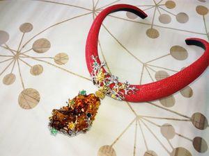 Колье с янтарем.. Ярмарка Мастеров - ручная работа, handmade.