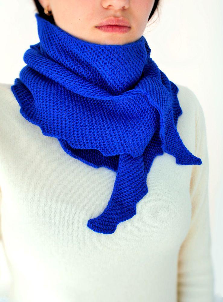 вязаный шарф, акция на вязаные вещи, шарф