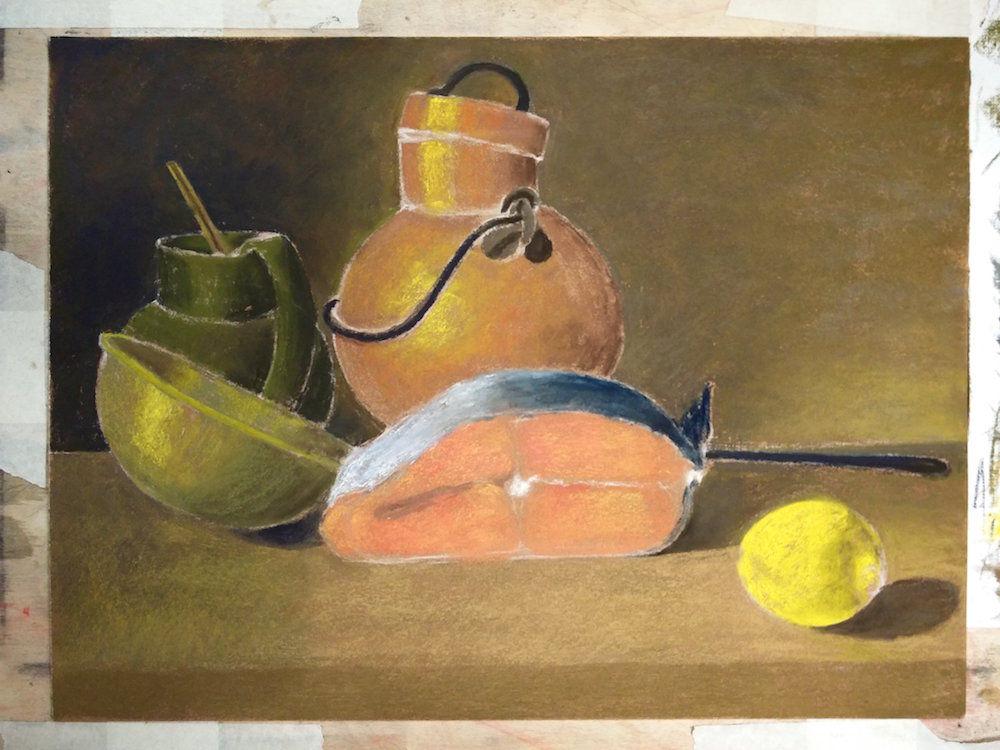 картина пастелью