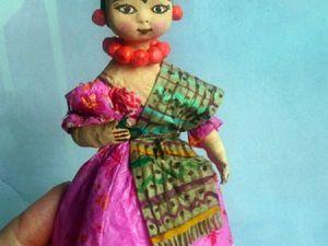 Ватная Фрида с Розой. Ярмарка Мастеров - ручная работа, handmade.