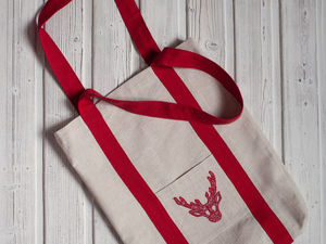 Шьем текстильную сумку-шопер «Олень». Ярмарка Мастеров - ручная работа, handmade.