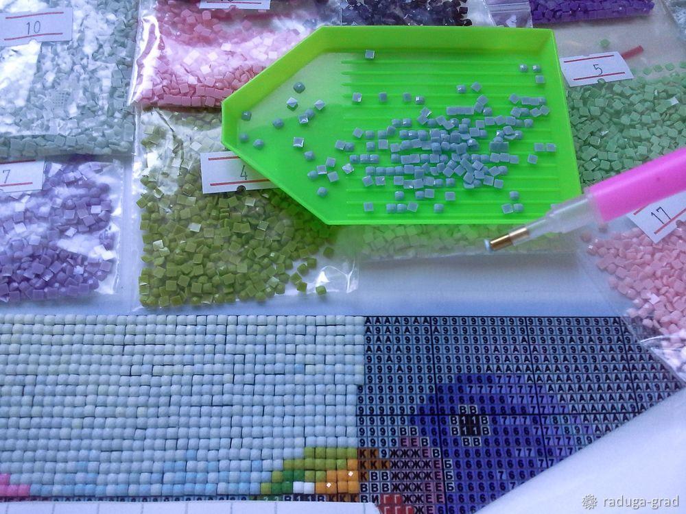 Как сделать алмазную вышивку из остатков 572