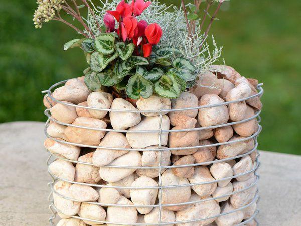 Габионы — необычные  цветники из сетки и камня | Ярмарка Мастеров - ручная работа, handmade