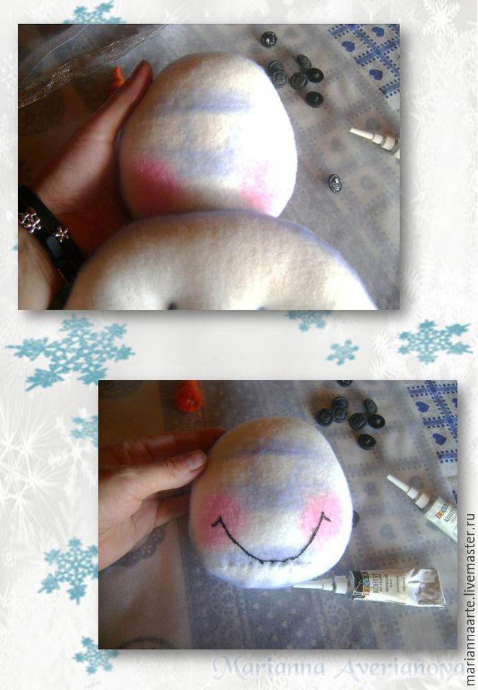 Мастер-класс по созданию забавной новогодней игрушки «Снеговичок-тюфячок», фото № 20