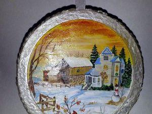 Новогодний медальон своими руками: мастер-класс. Ярмарка Мастеров - ручная работа, handmade.