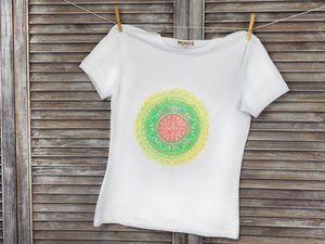 Как нарисовать мандалу на футболке своими руками. Ярмарка Мастеров - ручная работа, handmade.