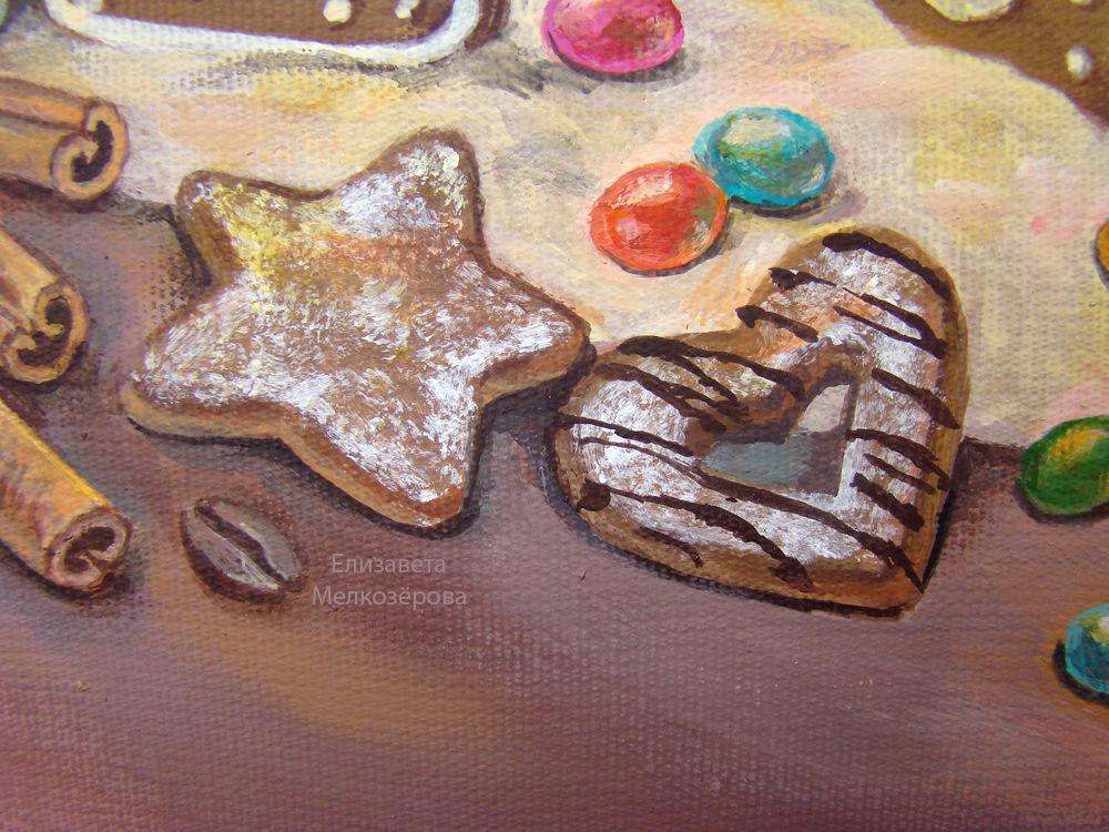 кофейный шоколадный, сливочный кремовый беж, рождество рождественский, подарок на новый год