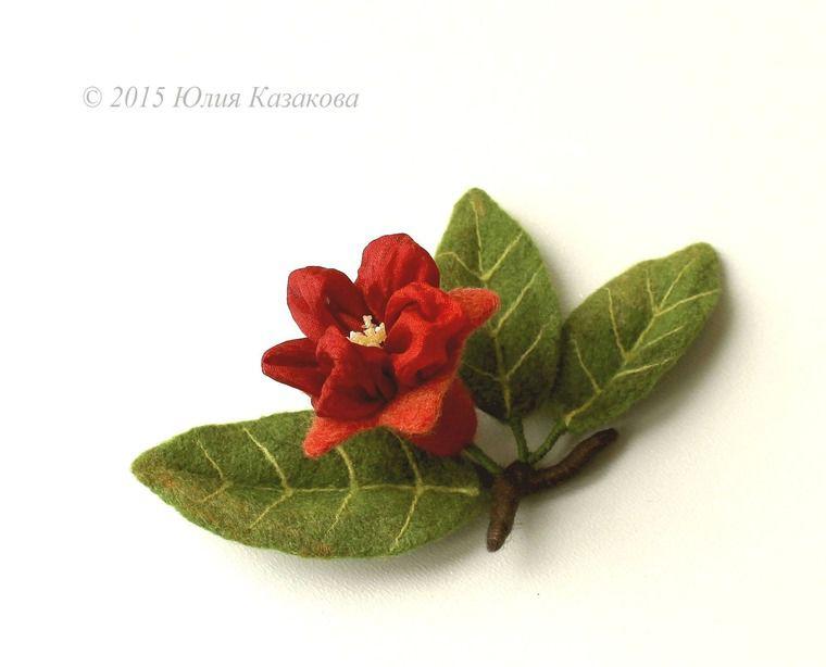 шерсть, валяние на каркасе, цветы, украшения, цветы ручной работы