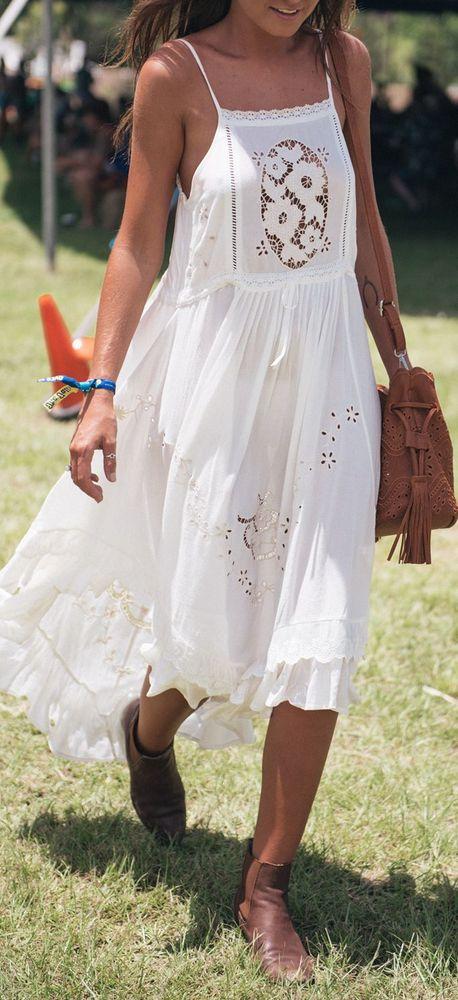 Белое бохо, или Шикарная одежда для королевы летнего пляжа, фото № 16