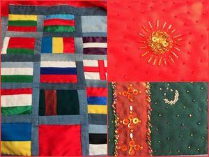 """Лоскутное Одеяло """"С Днем Народного Единства"""" с Праздником!!!. Ярмарка Мастеров - ручная работа, handmade."""