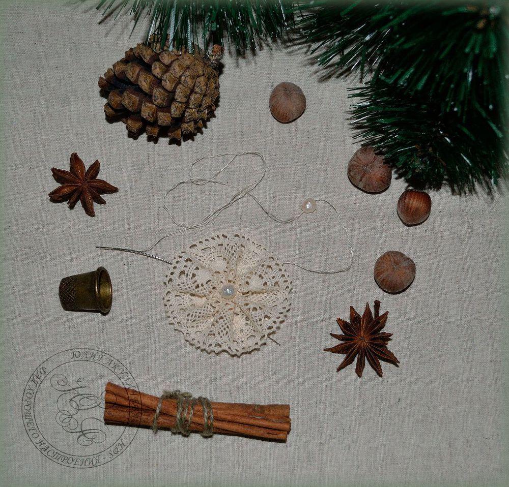 новогодние украшения, кружевная снежинка