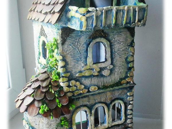 Как сделать кукольный домик из гофрокартона | Ярмарка Мастеров - ручная работа, handmade