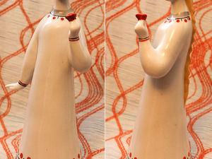 Аленький цветочек. Гжель. Фарфоровая статуэтка. Ярмарка Мастеров - ручная работа, handmade.