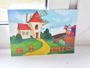 Развиваем детей с помощью аппликации «сказочный город». Ярмарка Мастеров - ручная работа, handmade.
