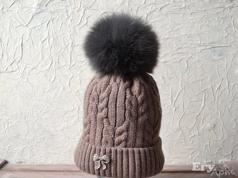 Крепим помпон на шапке, фото № 10