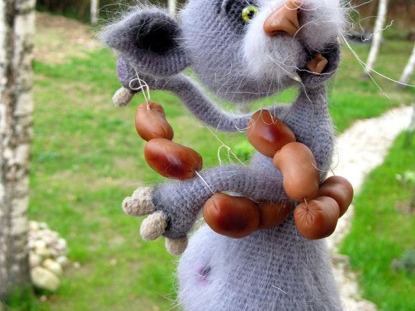 Кот, который любил сосиски | Ярмарка Мастеров - ручная работа, handmade