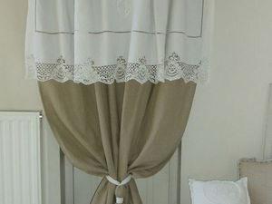 Идеи штор и занавесок в винтажном стиле для дачного дома. Ярмарка Мастеров - ручная работа, handmade.