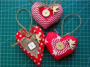 """Heart"" Handmade Cotton Christmas Toy. Livemaster - handmade"