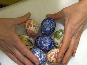 Как задекорировать яйца на Пасху в технике декупаж. Ярмарка Мастеров - ручная работа, handmade.