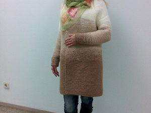 Еще один мастер-класс в продаже! Кардиган платочной вязкой градиентом | Ярмарка Мастеров - ручная работа, handmade
