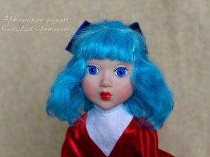 Новая куколка  Мальвина по мотивам старого мультика.. Ярмарка Мастеров - ручная работа, handmade.