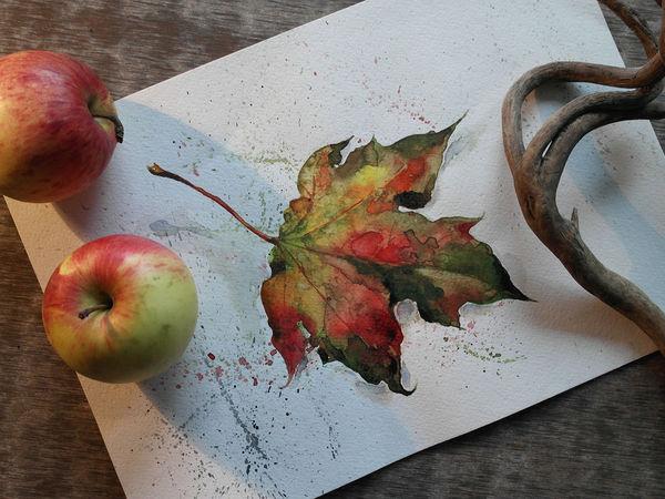 Последние осенние листья | Ярмарка Мастеров - ручная работа, handmade