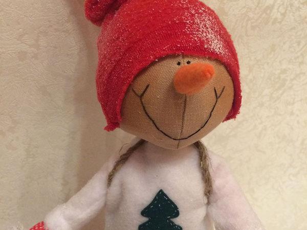 Путешествие в зимний лес: создаем снеговика   Ярмарка Мастеров - ручная работа, handmade