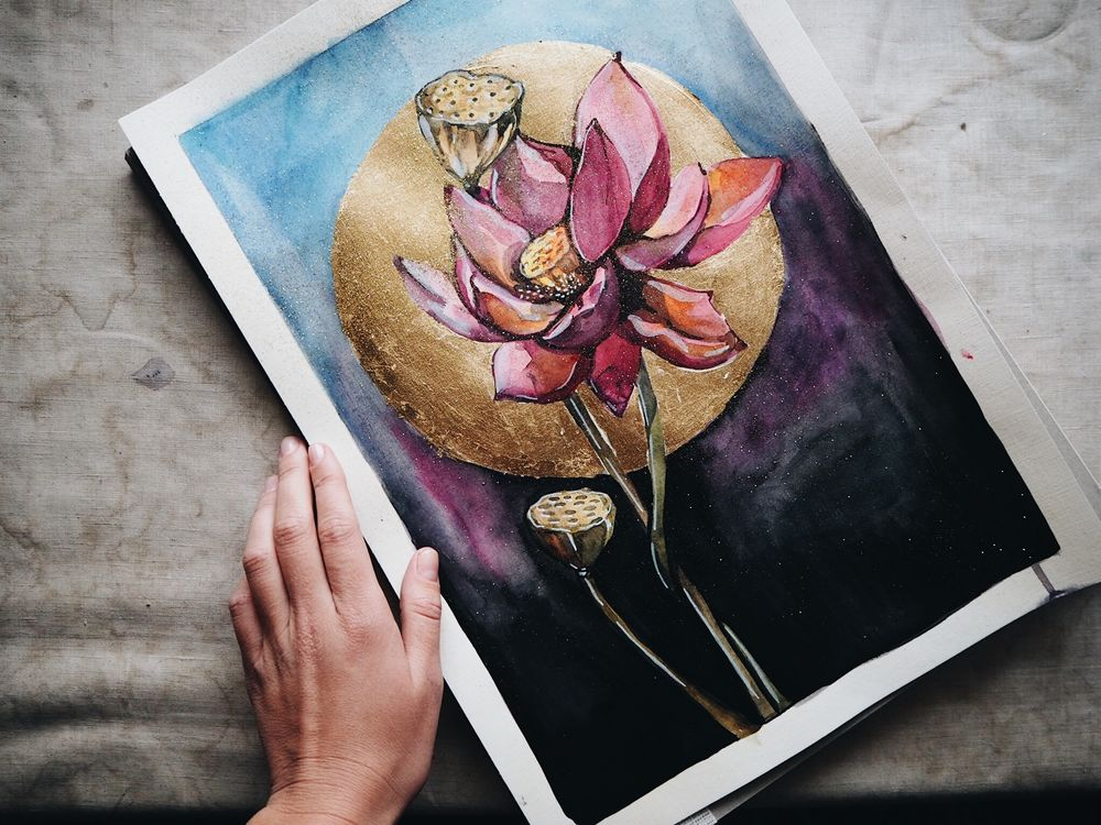 томская юлия, цветок лотоса