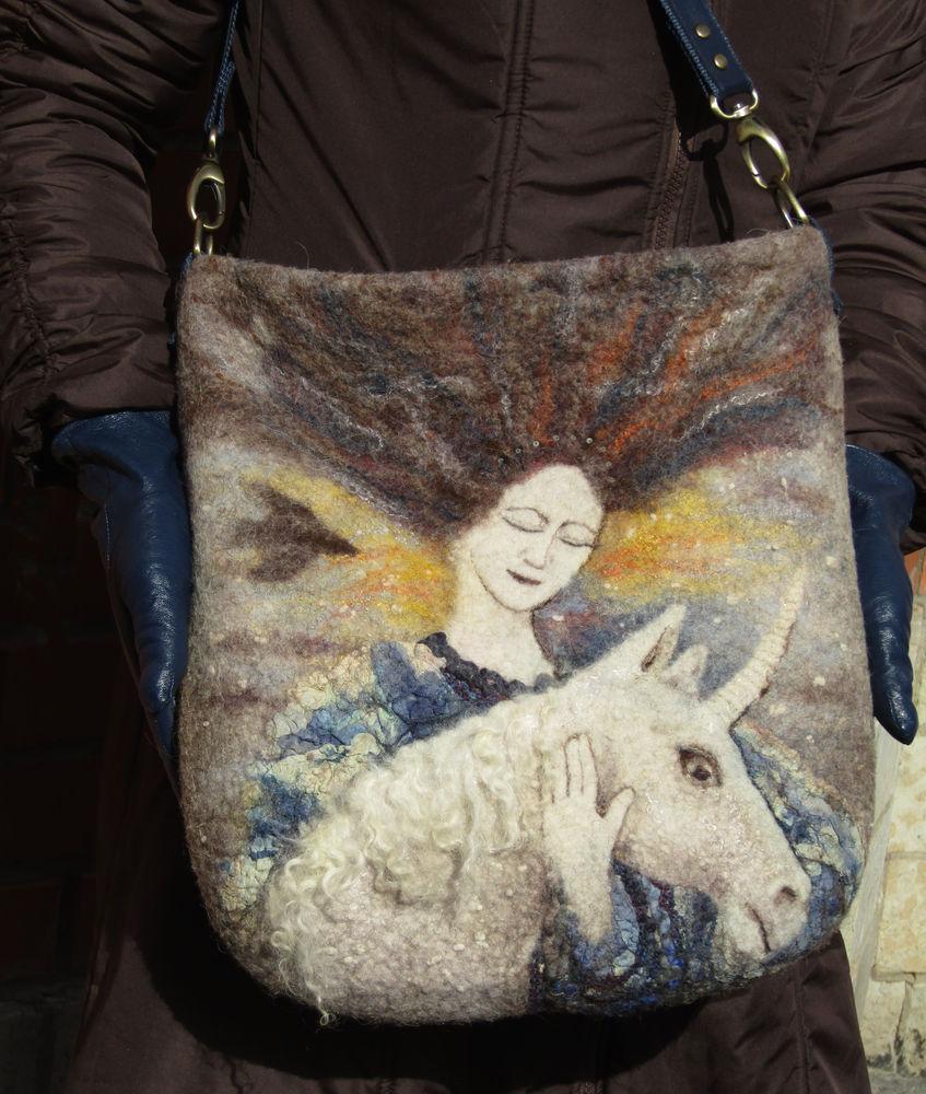 сумки из войлока, картина из шерсти