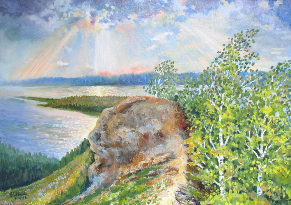 новая картина, горы, живопись маслом, купить в москве