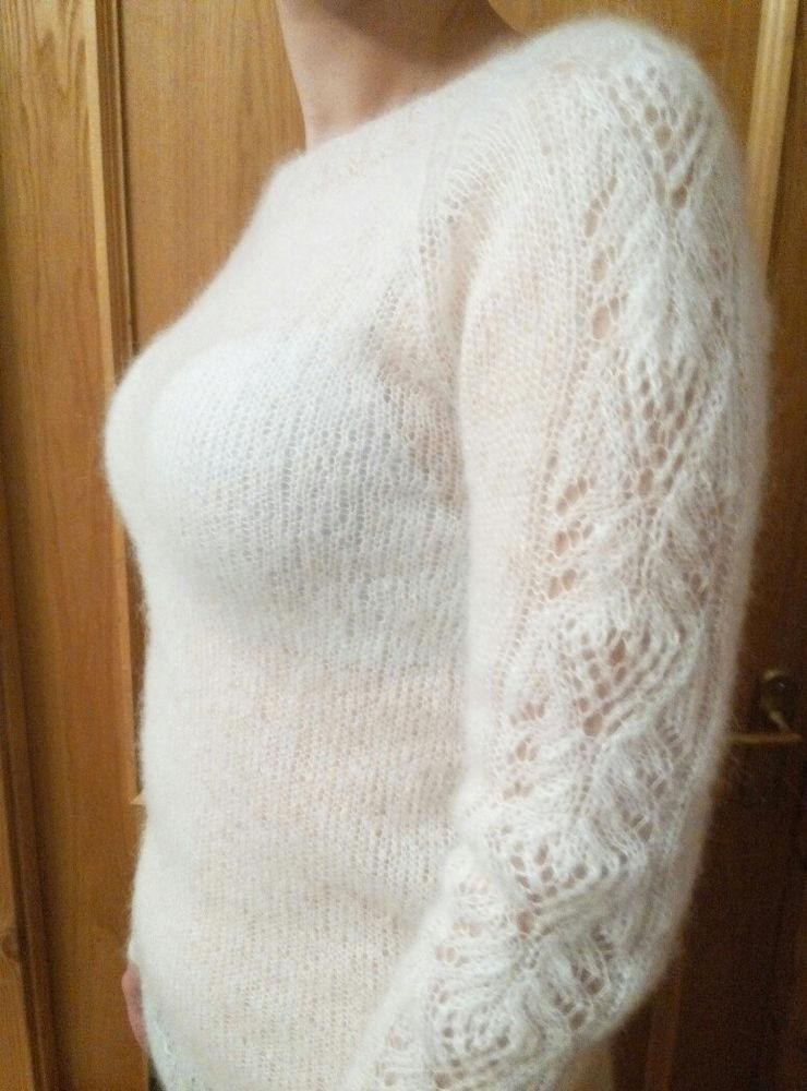 новинки своими руками, новые работы, мохеровый пуловер