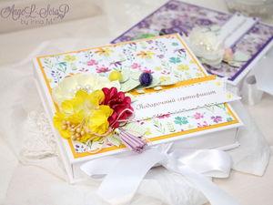Позитивные и яркие подарочные сертификаты в коробочках | Ярмарка Мастеров - ручная работа, handmade