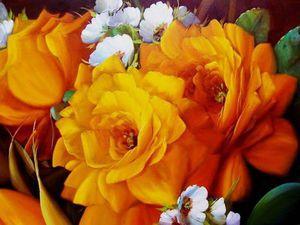 Солнечные картины цветов бразильского художника-самоучки Jorge Maciel. Ярмарка Мастеров - ручная работа, handmade.