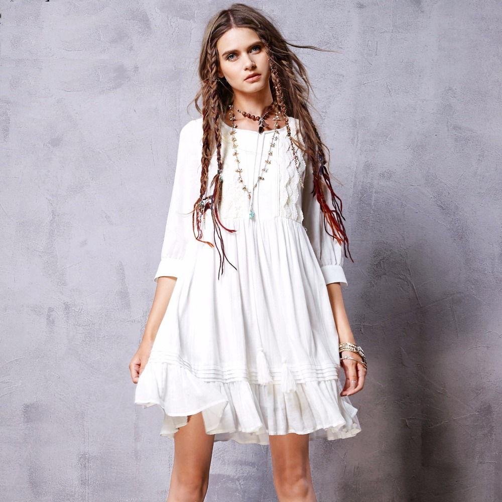 Белое бохо, или Шикарная одежда для королевы летнего пляжа, фото № 121