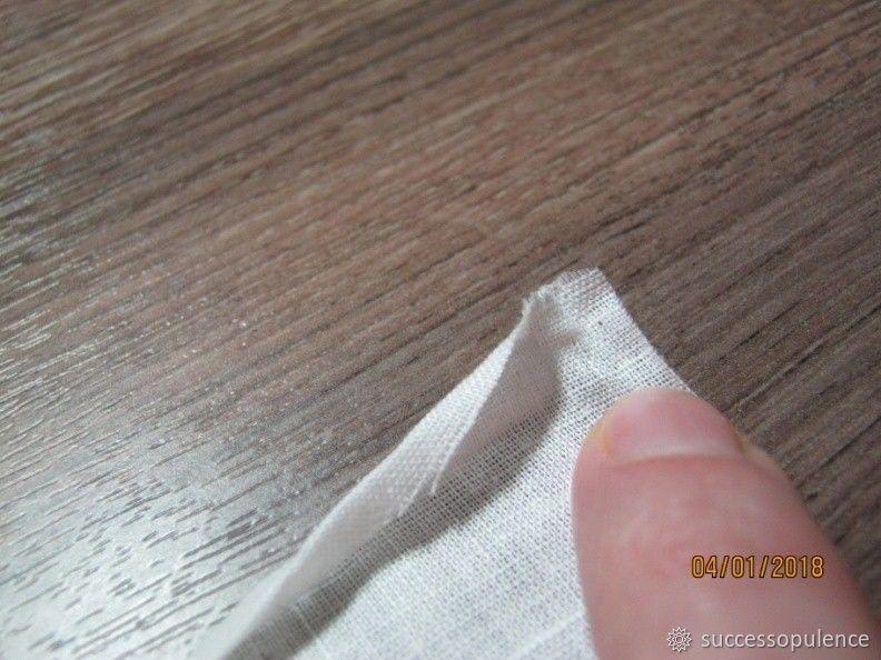 Making Handkerchiefs with Tatting Lace, фото № 9