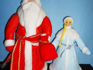 Мастерим Снегурочку для советского Дедушки Мороза | Ярмарка Мастеров - ручная работа, handmade