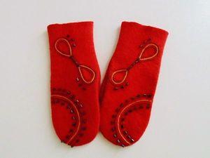 Теплые варежки в подарок счастливому подписчику!!. Ярмарка Мастеров - ручная работа, handmade.