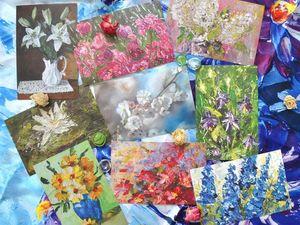 Праздничный розыгрыш открыток с цветами в честь 8 марта. Ярмарка Мастеров - ручная работа, handmade.